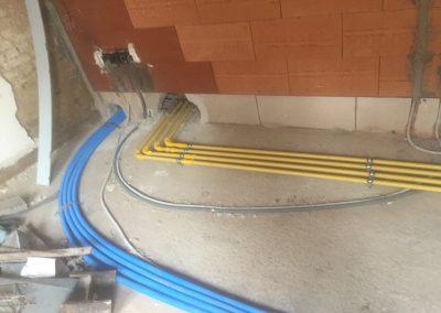 gasleiding en waterleiding